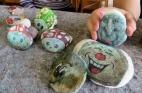 Steinebasteln im Haus der Generationen