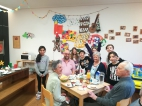 Gemeinsames Osterfrühstück im Schülerhort des Hauses